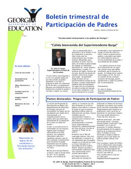 Boletín trimestral de Participación de Padres