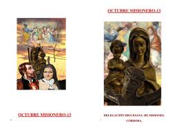 Sugerencias para el Octubre misionero-2013