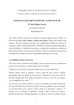 ESTRATEGIAS DE PREVENCIÓN DEL ACOSO ESCOLAR M.ª Inés