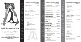 Conservatorio de musica 3 semana musica siglos XX y XXI folleto