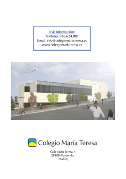 Folleto infantil María Teresa.indd