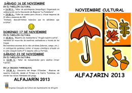 Folleto Noviembre Cultural 2013