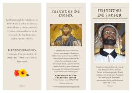 Infantes de Javier, folleto explicativo 2014
