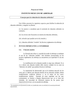 Consejos para la redacción de cláusulas arbitrales.
