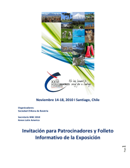 Invitación para Patrocinadores y Folleto Informativo