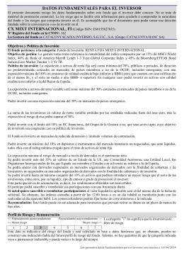DATOS FUNDAMENTALES PARA EL INVERSOR