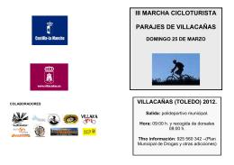 folleto marcha 2012 - Ayuntamiento de Villacañas
