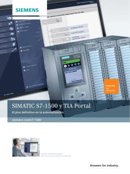 SIMATIC S7-1500 y TIA Portal