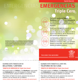 EMERGENCIAS – Triple Cero (000)
