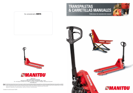 TranSpaleTaS & carreTillaS manualeS