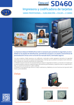 folleto DATACARD SD460