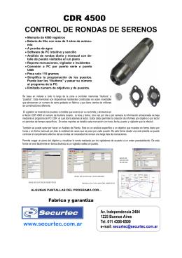 Descargar el folleto del CDR-4500