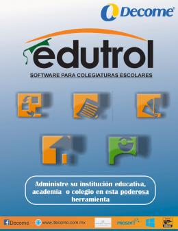 folleto edutrol corel.cdr - Sistema de Colegiaturas, Sistema de