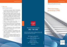 Participaciones preferentes - Comisión Nacional del Mercado de