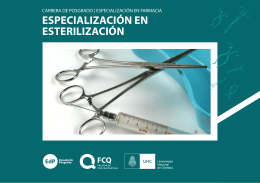 Folleto Carrera Especialización en Esterilización