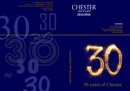 30 years of Chester - CHESTER School of English