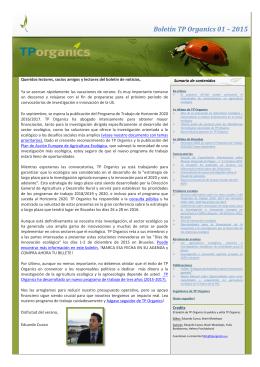 Días de la Innovación en Agricultura Ecológica