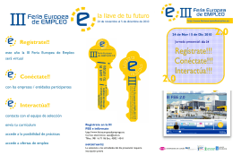 Folleto III Feria Europea de Empleo
