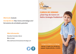 CURSOS DE VERANO - Colegio Oficial de Médicos de Málaga