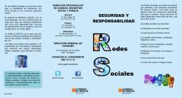 Consejos. Redes Sociales. Seguridad y responsabilidad