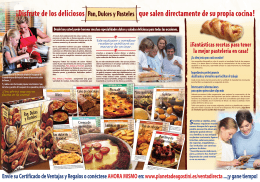 folleto pasteles