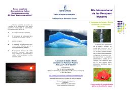 Folleto Jornadas Salud, Medio Ambiente y Vejez
