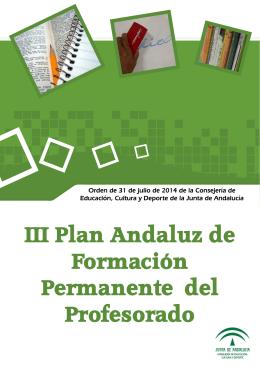 III Plan Andaluz de Formación Permanente del Profesorado