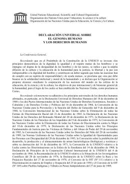 Prefacio del folleto dedicado a la Declaración Universal sobre