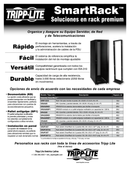 Tripp Lite Spanish SmartRack Flyer Folleto Sobre Soluciones