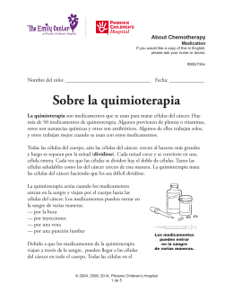 Sobre la quimioterapia - Phoenix Children`s Hospital