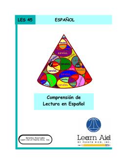 Comprensión de Lectura en Español