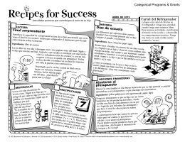 Recıpes for Success