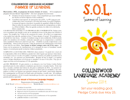 collinswood summer reading program 2014