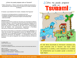 Como me puedo preparar ante un tsunami Folleto