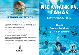 Folleto Informativo Piscina Municipal Camas