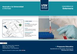 Folleto licenciatura enfermeria - Universidad Nacional de Avellaneda