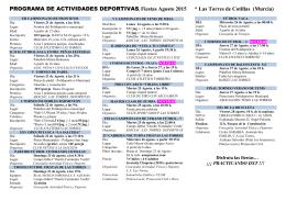 folleto resumen actividades deportivas