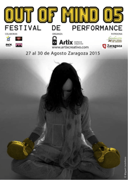 Festival Out of Mind. Folleto Informativo
