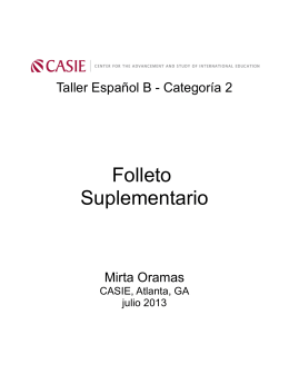 Folleto Suplementario