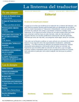 Revista en PDF - La linterna del traductor