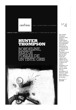 HUNTER THOMPSON BORDELINE, RESTOS FOSILES