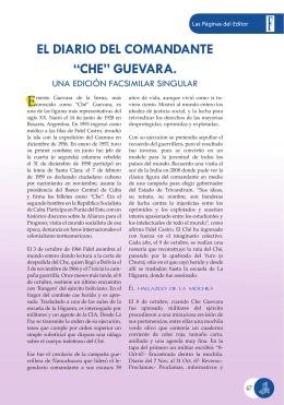 """EL DIARIO DEL COMANDANTE """"CHE"""" GUEVARA."""
