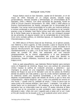 Antología poética de Roque Dalton