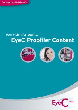 Folleto EyeC Proofiler Content
