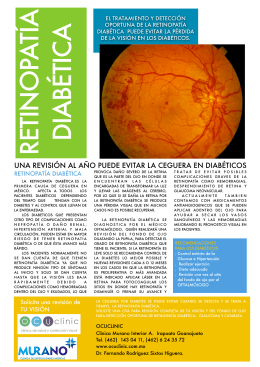 FOLLETO RETINOPATIA DIABETICA 2014