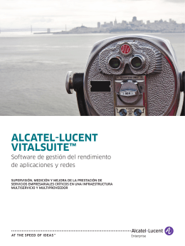 ALCATEL‑LUCENT VITALSUITE™ - Alcatel