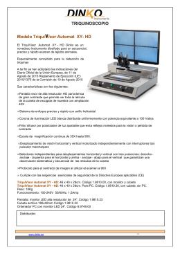 Folleto Triquinoscopio Modelo TriquiVisor Automat