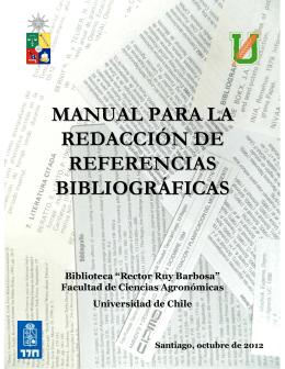 Manual para la Redacción de Referencias Bibliográficas (2012).