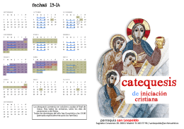 Folleto catequesis 13-14