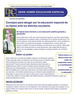 Consejos para abogar por la educación especial de su hijo(a) ante